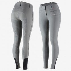 B Vertigo Ladies Tiffany Silicone Full Seat Breeches Steel Gray
