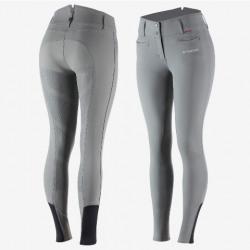 B Vertigo Ladies Tiffany Silicone Full Seat Breeches Steel Gray