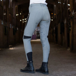 B Vertigo Ladies Skylar Silicone Full Seat Breeches Steel Grey