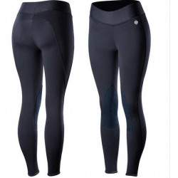 Horze Active Women's Knee Patch Winter Tights Navy