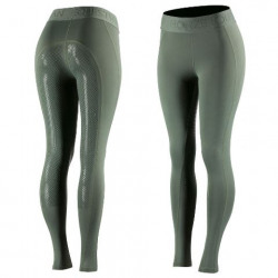 Horze Ladies Madison Silicone Full Seat Tights Green