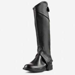 Horze Kids Leather Half Chaps Black