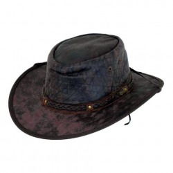Iron Bark Outback Leather Hat Chocolate