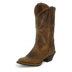 Justin Ladies Quinlan Tan Western Boots