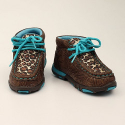 MF Twister Leopard Turquoise Toddler Casual Shoe