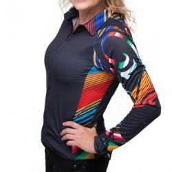 M Sport 6 Ladies Tri Serape Shirt