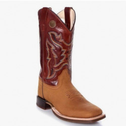 Old West Youth Cognac Brown Western Boots