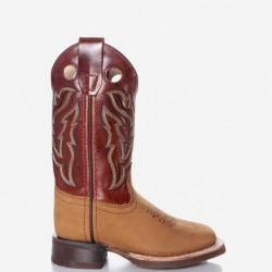 Old West Boy's Cognac Brown Western Boots