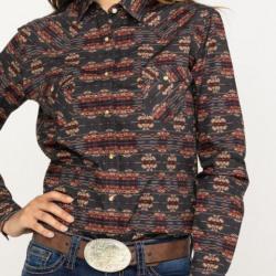 Panhandle Rough Stock Ladies Aguila Vintage Aztec Western Shirt