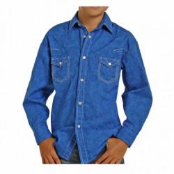 Rock & Roll Cowboy Blue Paisley Print Shirt