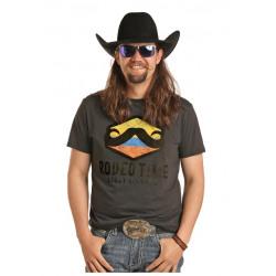 Rock N Roll Cowboy Leroy Gibsons Mustash T Shirt