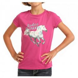 Rock N Roll Girl's Pink Rodeo Princess T-Shirt