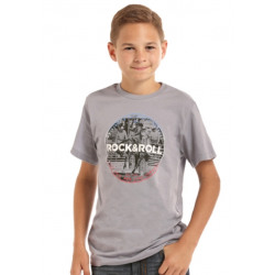 Rock n Roll Cowboy Grey Bronc T Shirt