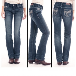 Rock N Roll Cowgirl Junior Boyfriend Dark Vintage Straight Jeans