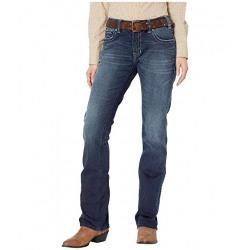 Rock and Roll Cowgirl Junior Boyfriend Fit Straight Leg Jeans Dark Vintage