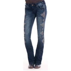 Rock & Roll Cowgirl Rival Bootcut Extra Stretch Dark Wash Jean