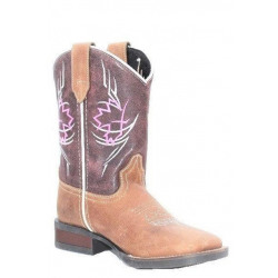 Roper Kids Canadian Tribe Wine Brown Cowboy Boots
