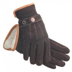 SSG Winter Deer Suede Gloves Dark Brown
