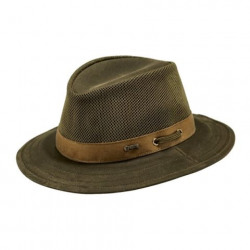 Outback Willis Oilskin Hat with Mesh Sage