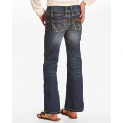 Wrangler Girls Size 7-14 Boot Cut  Premium Patch Jeans