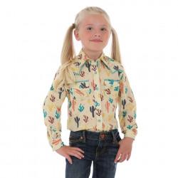 Wrangler Girls Multi Colour Cactus Print Western Shirt