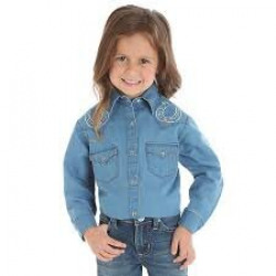 Wrangler Girl's Denim Shirt
