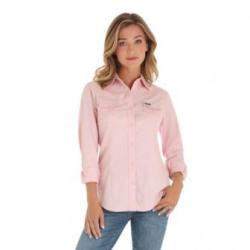 Wrangler Ladies Western Fashion Pink Shirt