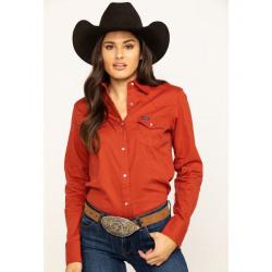 Wrangler Ladies Rust Snap Western Shirt