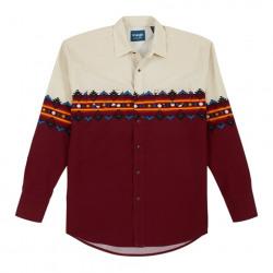 Wrangler Men's Checotah Red Black Aztec Western Shirt