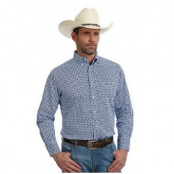 Wrangler 20X Men's Periwinkley Purple Button Front Shirt