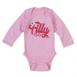 Wrangler Long Sleeve Pink Filly Onsie