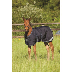 Horseware Ireland Amigo Foal Turnout Blanket Navy With Silver Trim