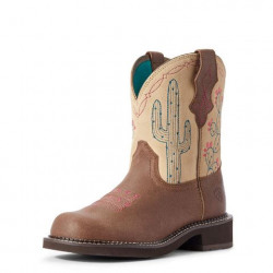 Ariat Ladies Heritage Fatbaby Desert Western Boot