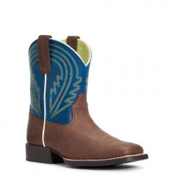 Ariat Youth Lil Hoss Chocolate Navy Western Boot