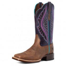 Ariat Ladies PrimTime Tobacco Purple Shadow Cowboy Boots