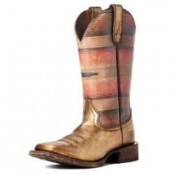 Ariat Ladies Savanna Gold Blanket Western Boot