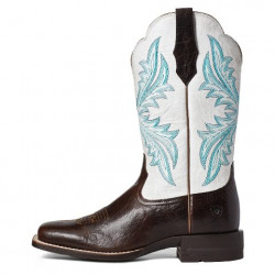 Ariat Ladies West Bound Chocolate Chip Square Toe Cowboy Boots