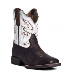 Ariat Youth Mahogany White Sorting Pen Western Boots