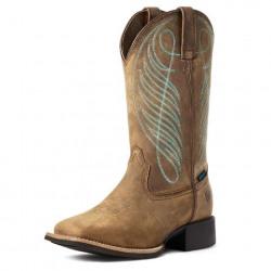 Ariat Ladies Round Up Wide Toe Waterproof Cowboy Boot