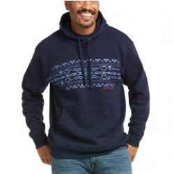 Ariat Men's Southwest Navy Basic Sweatshirt