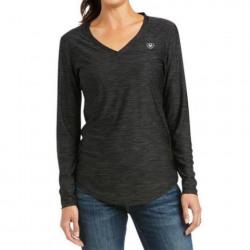 Ariat Ladies Long Sleeve Laguna Shirt Charcoal