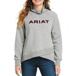 Ariat Ladies Crossover Sweatshirt Heather