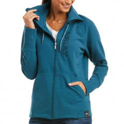 Ariat Ladies Team Logo Full Zip Eurasian Teal Sweatshirt