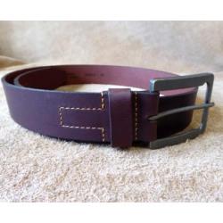 Bison Men's Vintage Brown Leather Belt 64662