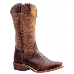 Boulet Men's Bison Amber Gold Cutter Toe Cowboy Boot