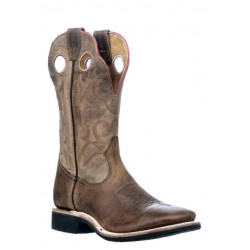 Boulet Men's Brown Wide Square Toe Cowboy Boots