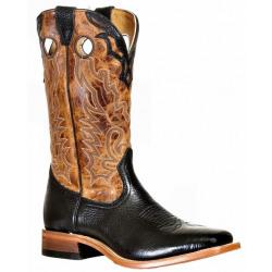 Boulet Men's Shoulder Black Lone Star Cognac Western Boots