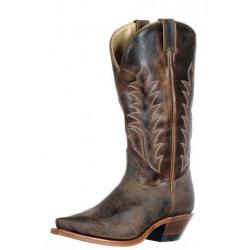 Boulet Ladies Snip Toe Brown Boot