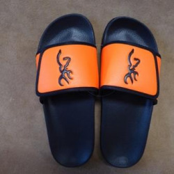 Browning Slip On Sandals Camo Orange