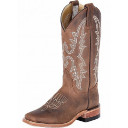 Canada West Ladies Brahma Ropers Dark Brown Boots